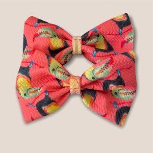 Piggie hair bow set